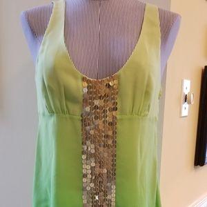 BCBG Sexy Silk sequin sleeveless top